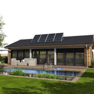 Pasivní dům GS Pasiv 12 s bazénem a posezením