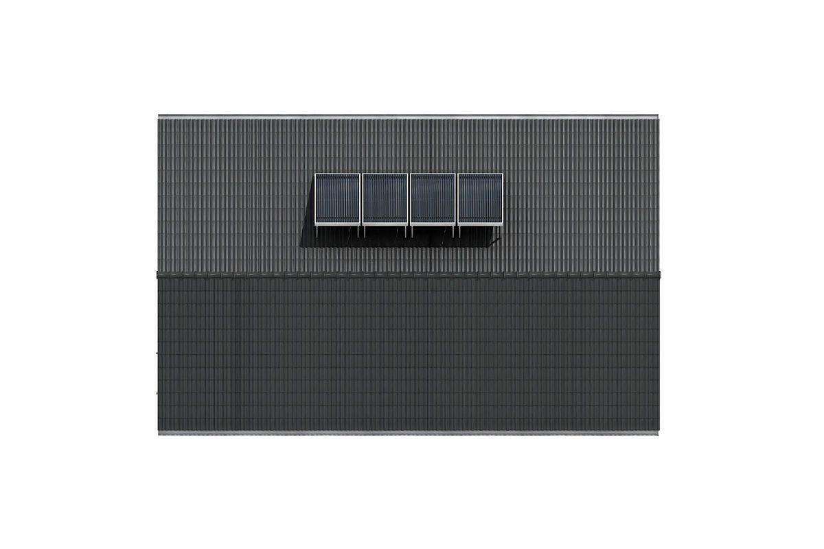 Střecha se solárními panely domu GS Pasiv 12