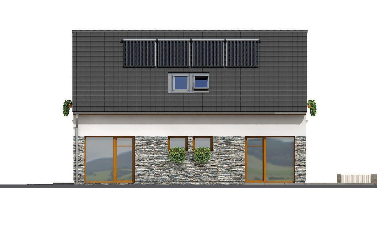 Boční prosklená strana domu GS Pasiv 14