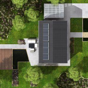 Pasivní dům GS Pasiv 16 z ptačí perspektivy