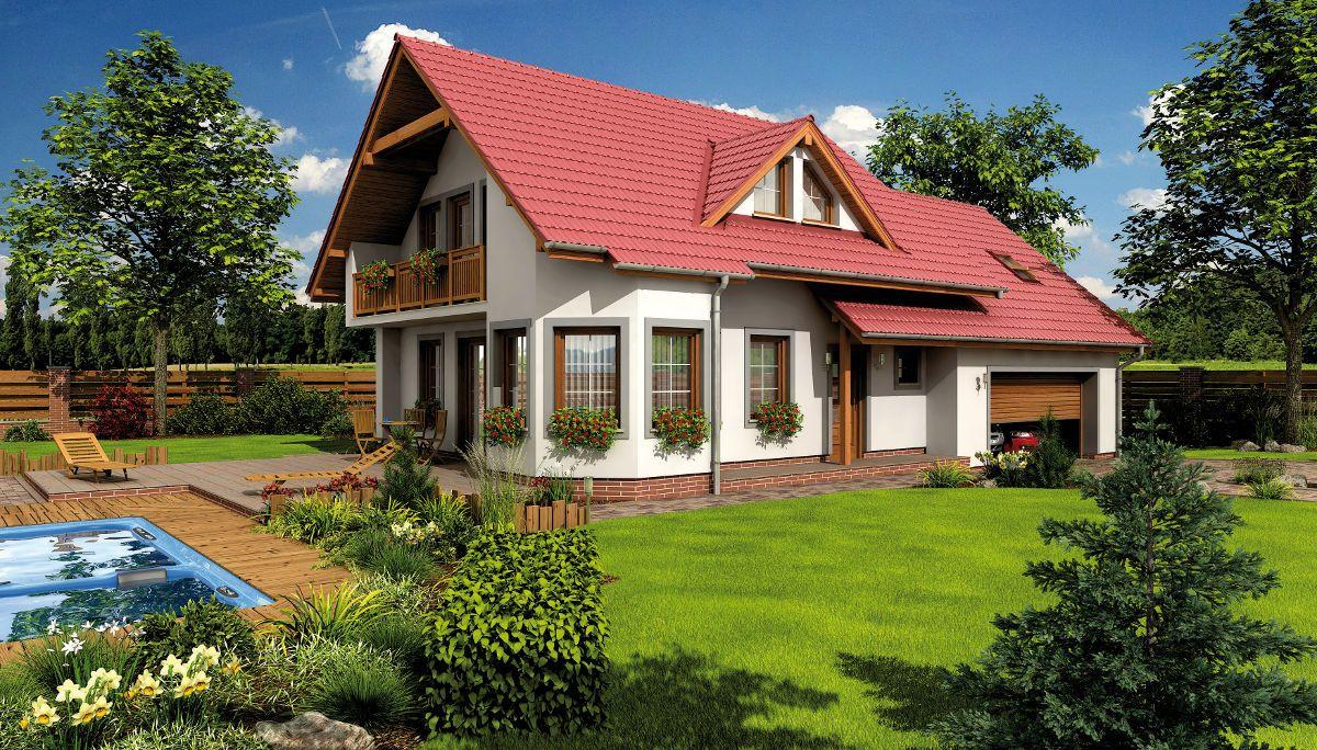 Dvoupatrový dům Alfa 1 Plus pro větší rodinu