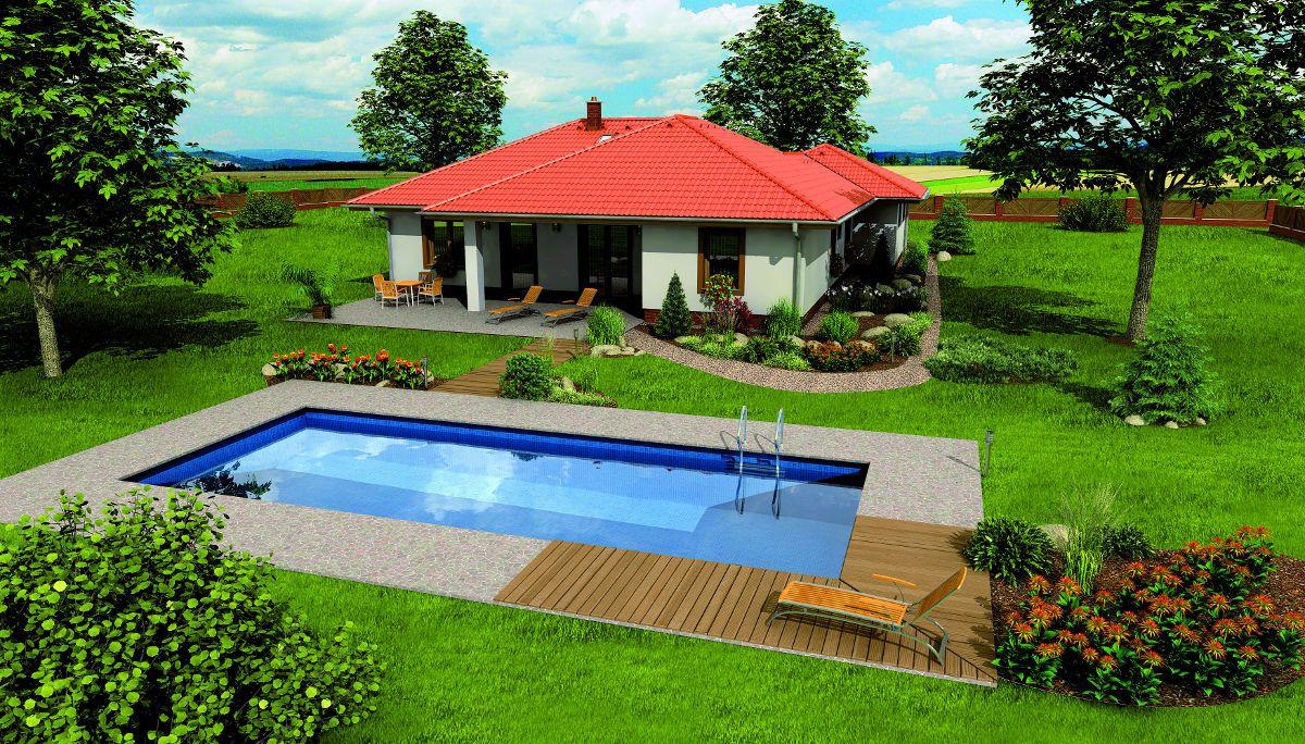 Bazén u domu Bungalow 5 Plus