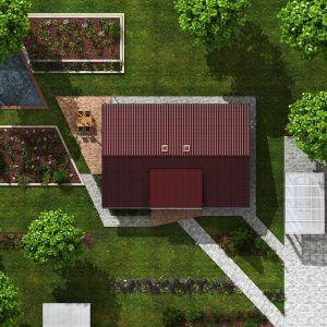 Bezbariérový dům Talon z ptačí perspektivy